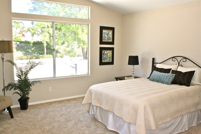 Murrieta Home Staging Master Bedroom
