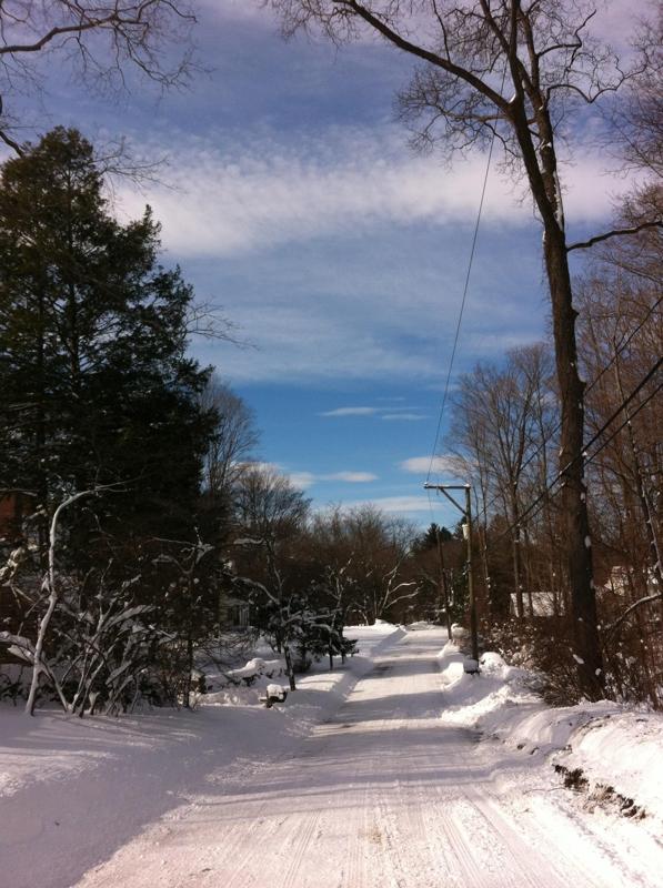 Wilton CT Feb 2013 snow