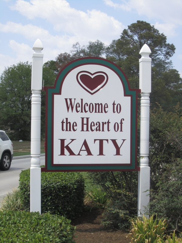 Sign for Old Town Katy