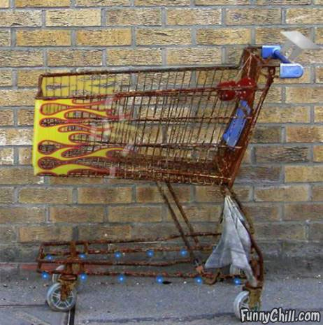 Pimped Out Shopping Cart- FunnyChill.com