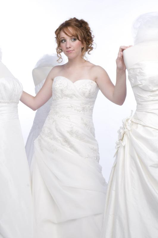 Brittany modeling a wedding gown