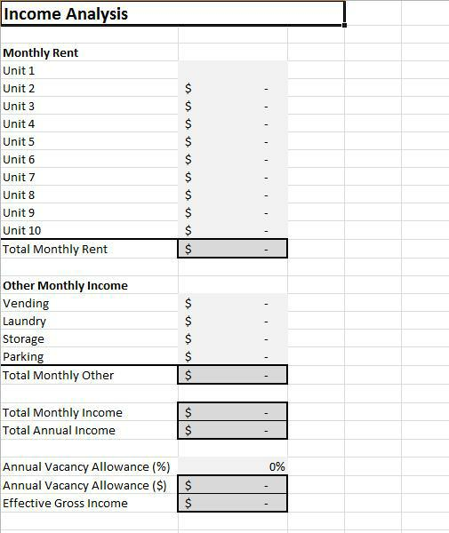 rental cash flow analysis spreadsheet for excel. Black Bedroom Furniture Sets. Home Design Ideas