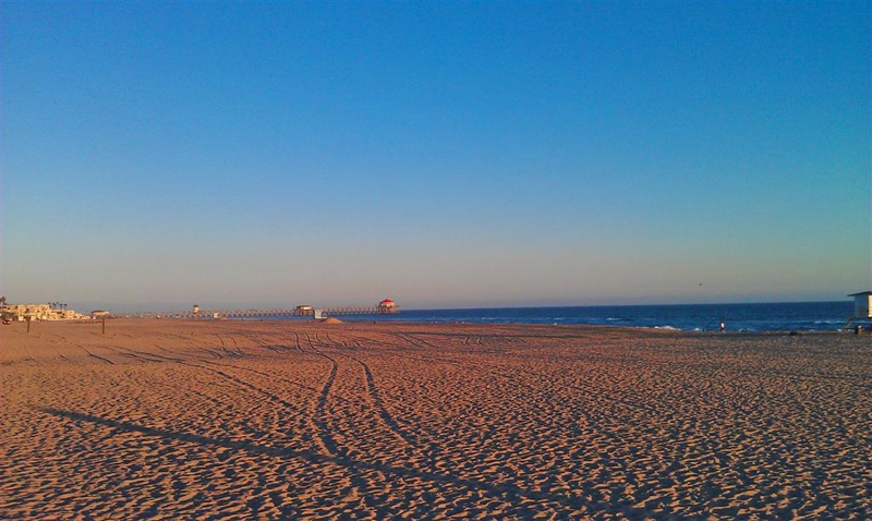 Huntington Beach toward pier