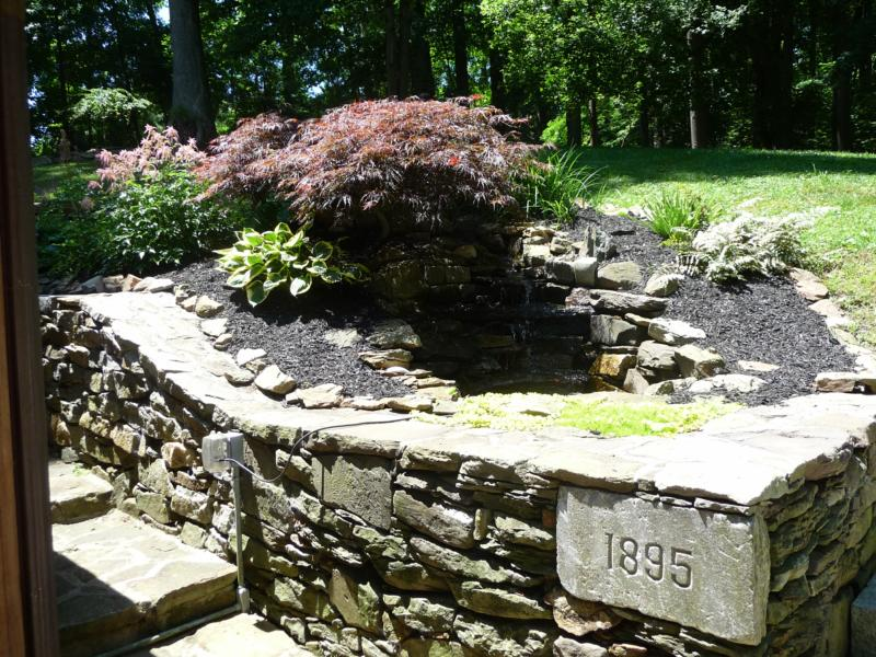 Patio wall 702 Benge Rd.