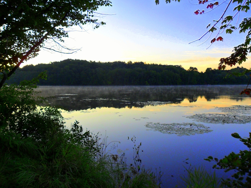 morning along the Androscoggin River in Auburn Maine