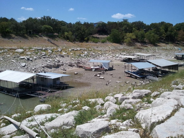 Lake water travis level pictures