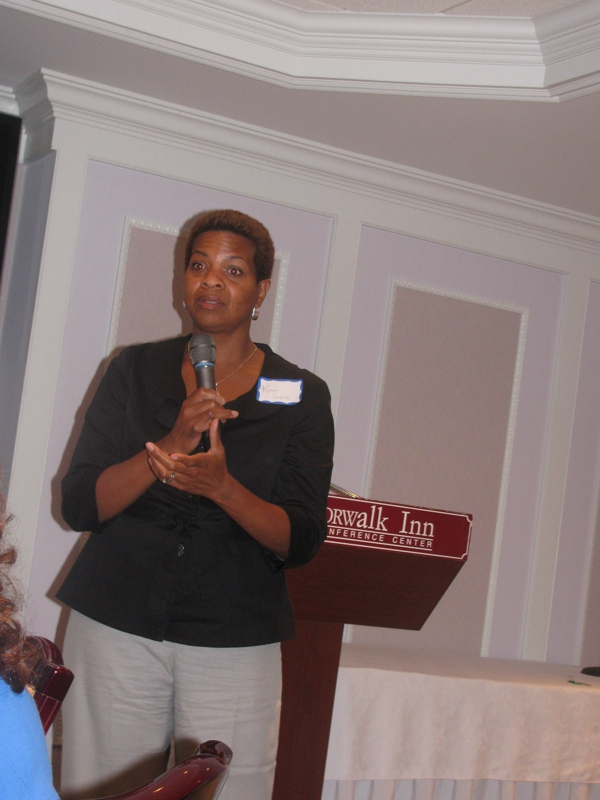 Karen Graves at Professional Women of CT dinner