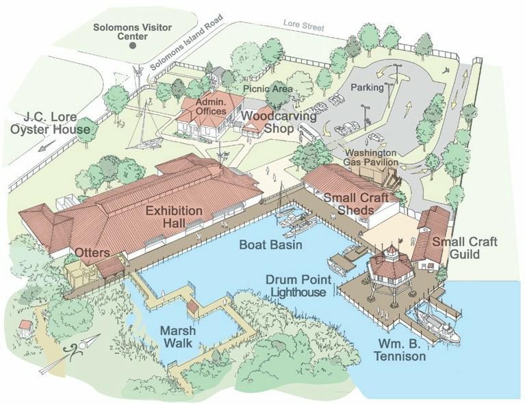 Map Grounds Of Calvert Marine Museum Directionsfrom Washington D C