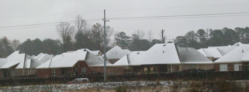 Snow in Brandon, Mississippi
