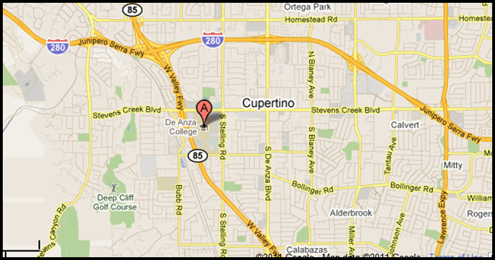 De Anza Flea Market - First Saay of every month. Cupertino CA Deanza Map on