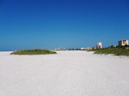 north view onto treasure Island beach