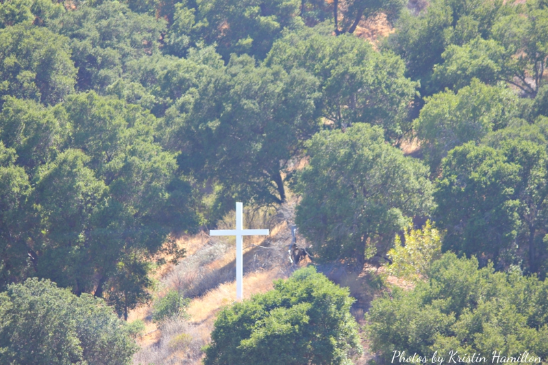 cross on a California hill