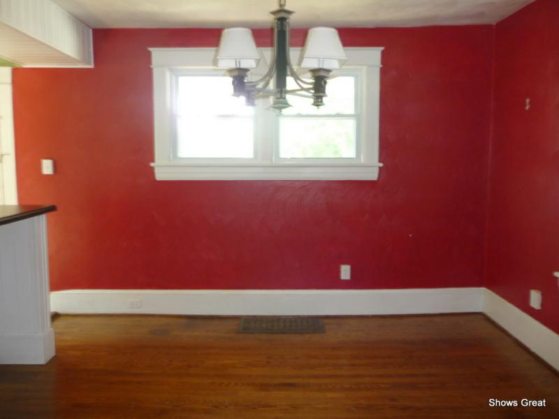 Red Painted Rooms before and after photos - when color changes everything