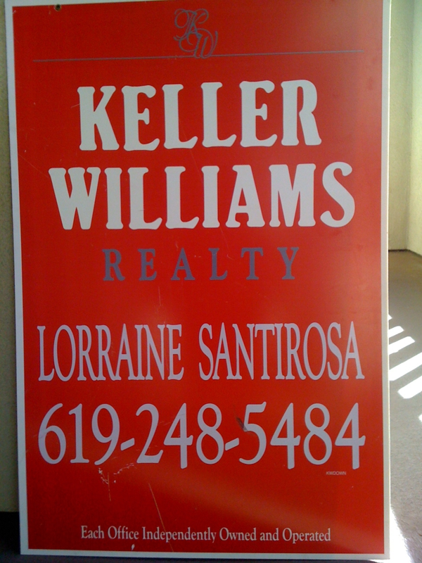 red and white keller williams for sale sign