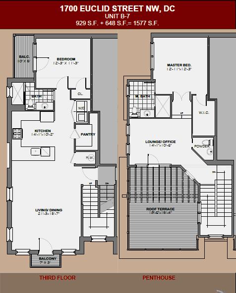 1700 Euclid Street Nw Dc Condo Floorplans