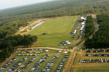 polo field - aerial view