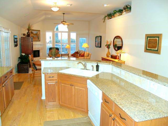 kitchen with granite countertops - sonoma
