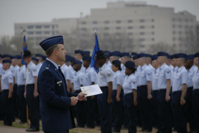 Lackland AFB basic training graduation
