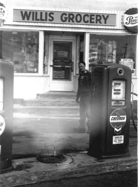 Gas Pumps at Willis Grocery