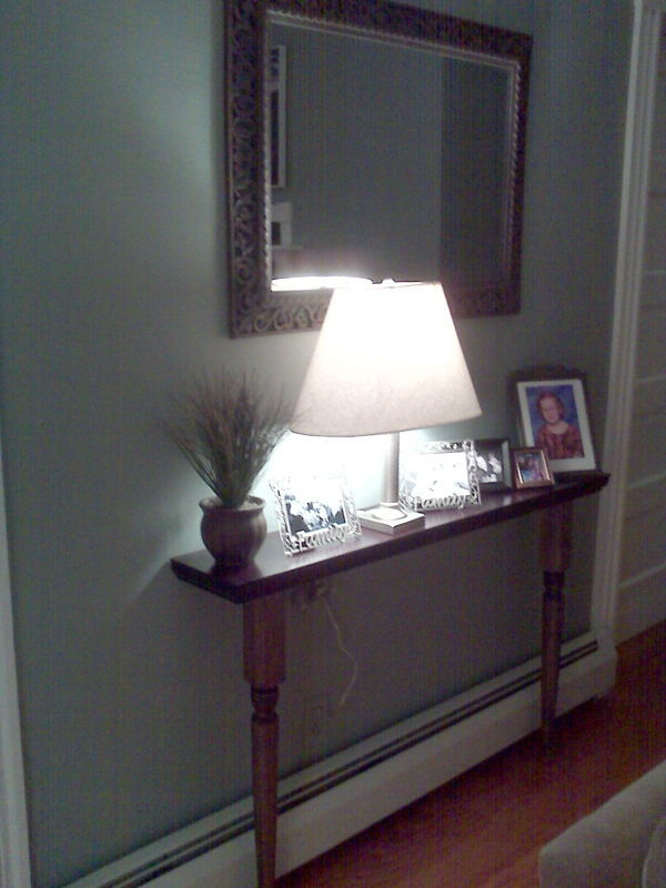 Foyer Table For Small Spaces : Create a custom sofa table for small spaces