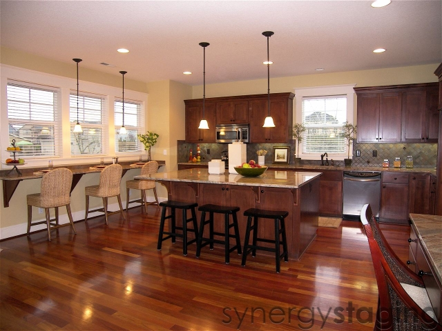Kitchen staged by Synergy Staging in Happy Valley OR