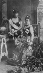 Queen Kapiolani_and_Queen Liliuokalani_at_Golden_Jubilee Michelle Carr Crowe blog Jan. 15 2013 wiki image
