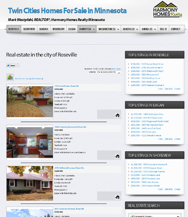 homes for sale in Roseville MN at HarmonyHomesRealEstate.com