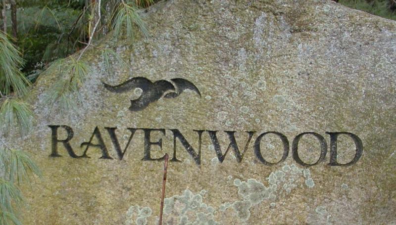 Ravenwood sign by Claudette Millette