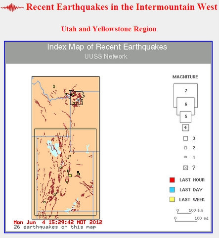 earthquake of Intermountain West