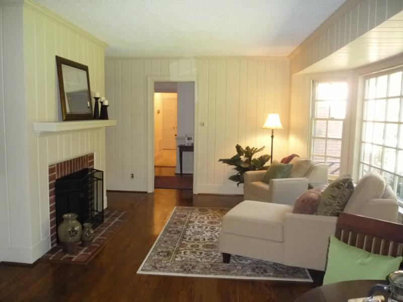 Painted paneling b a photos Wood paneling transformation