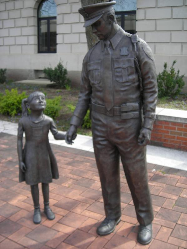 The Fallen Officer Memorial in Battle Creek, Michigan