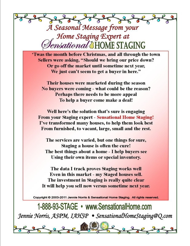 Twas the Month Before Christmas - A Poem for Sellers and Realtors