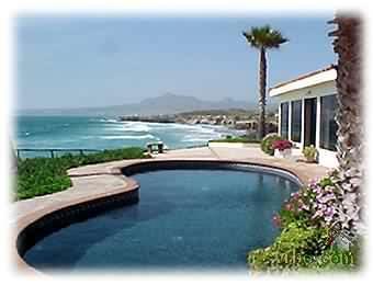 Pool at Baja Beach Home in Rosarito Beach