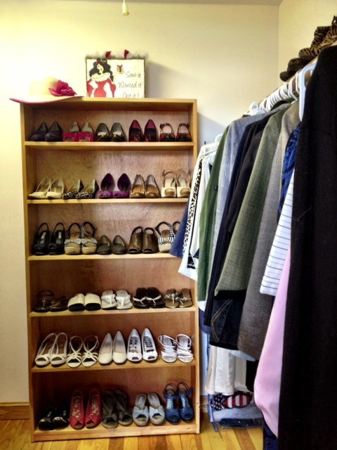 Closet after it was organized
