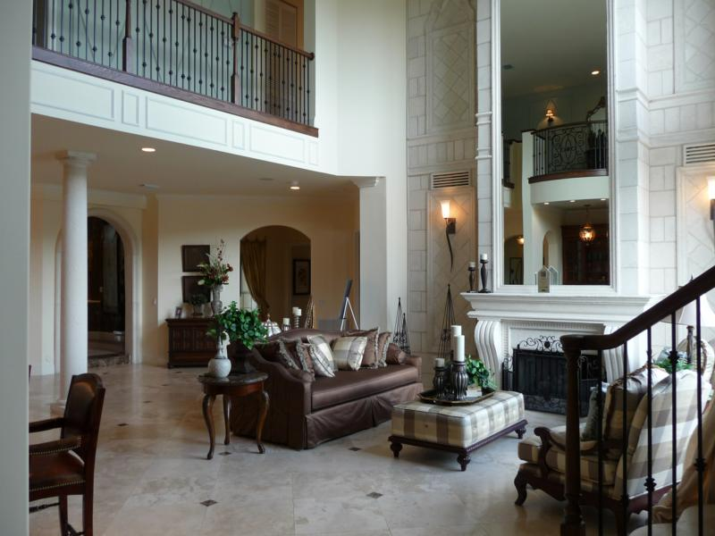 Professionally Decorated New Construction Mediterranean Style – Model Home Living Rooms
