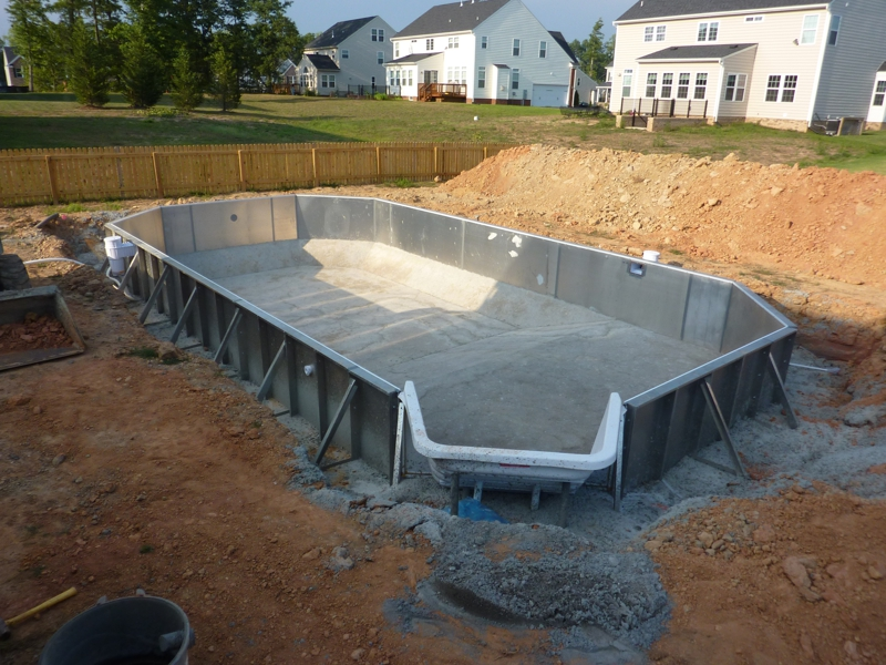 Installation of Medallion Swimming Pool