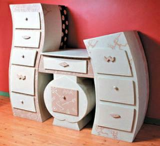 Charmant Cardboard Furniture Painted Dresser