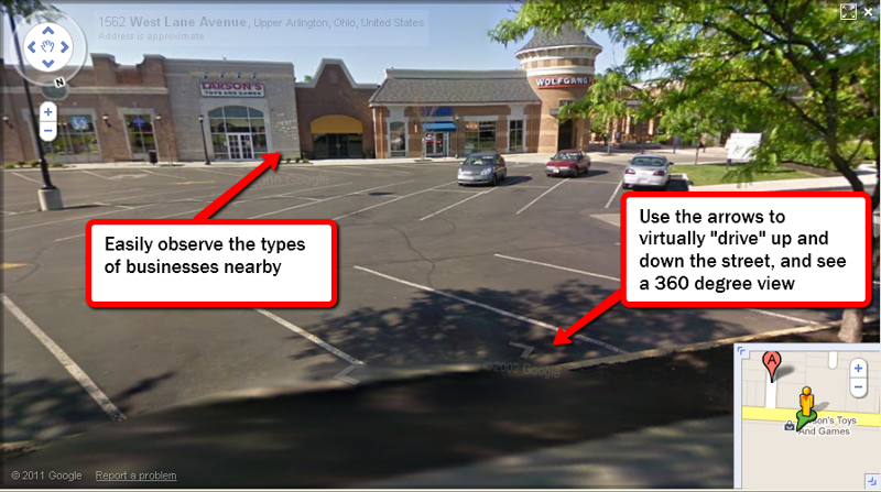 Google street view central oh real estate
