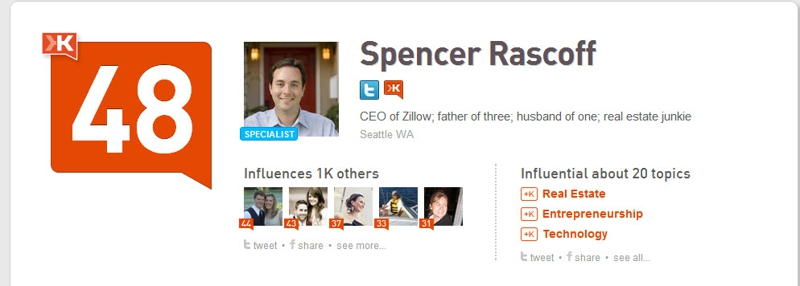 Spencer Rascoff Klout