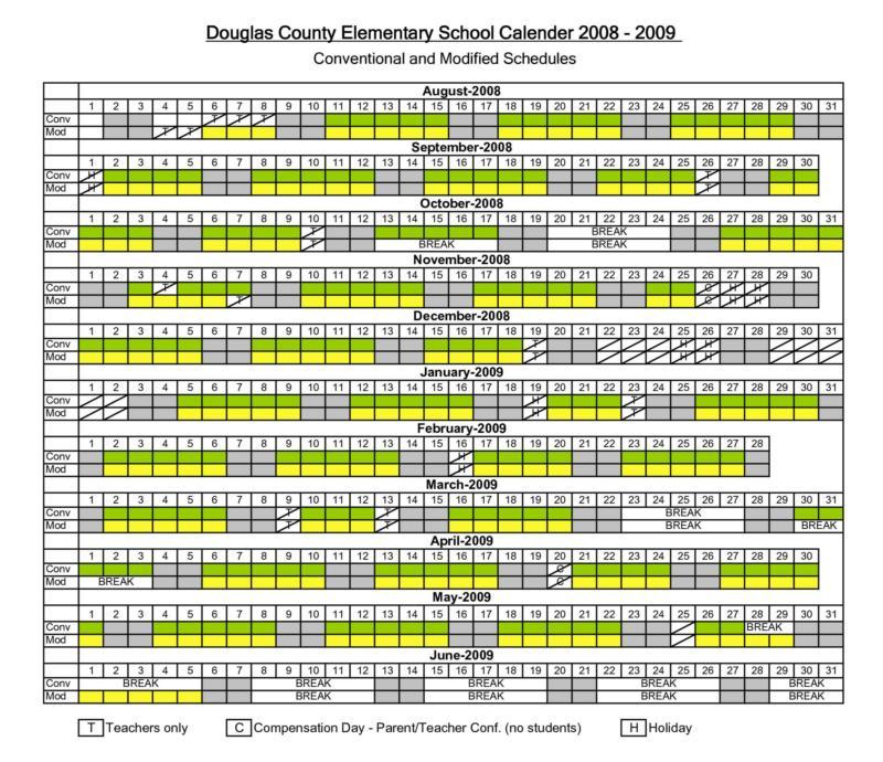 Colorado Eagles Schedule: Douglas County CO Schools: Year-round Calendar = Track System