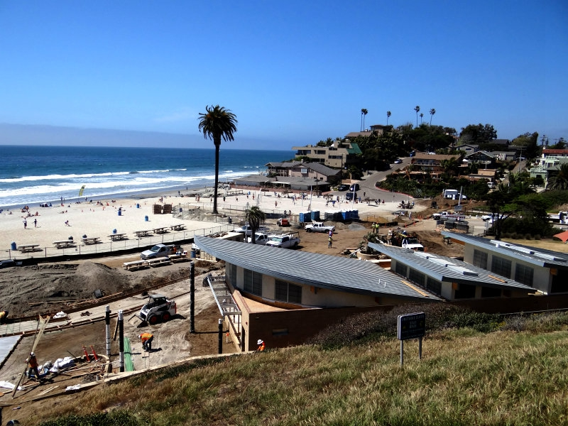 Moonlight Beach New Bath House Under Construction In Encinitas