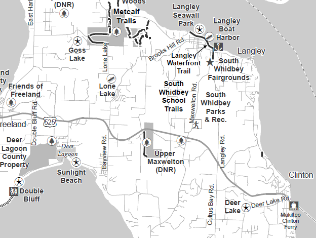 Map of Langley, WA