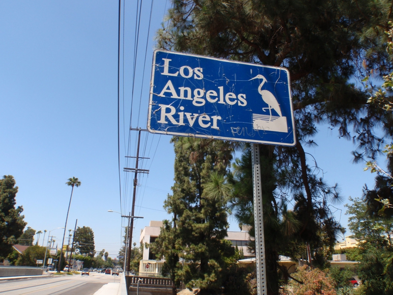 Los Angeles River Sign by Endre Barath