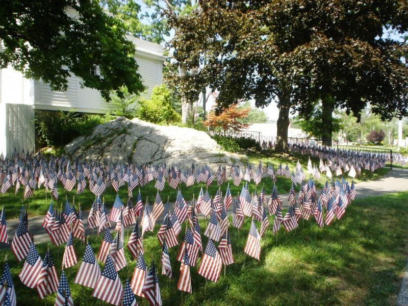 Congregational Church Brookfield CT Field of Flags