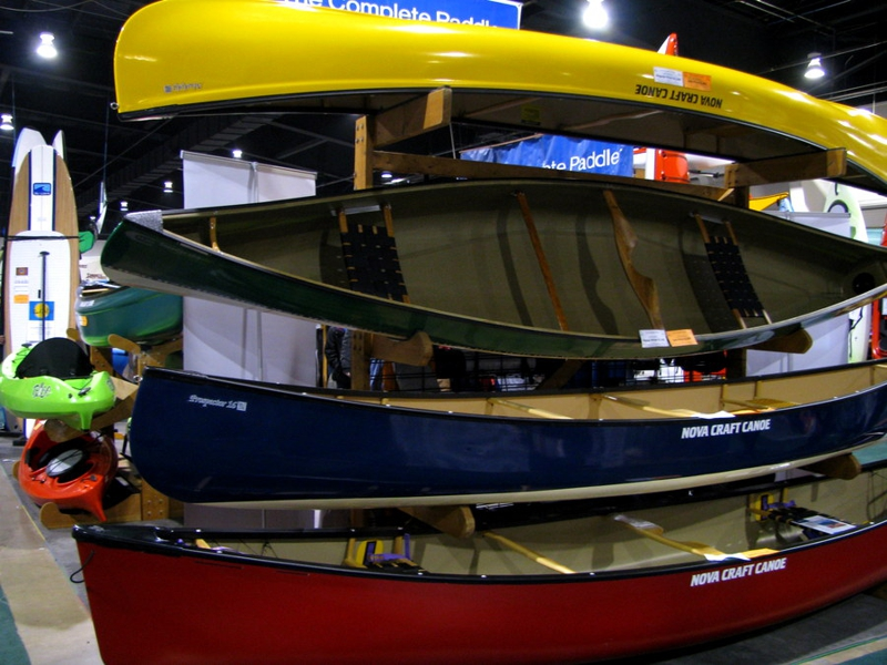 Canoes at the Outdoor Adventure Show