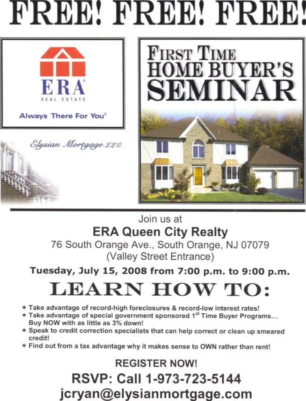 First Time Home Buyer's Seminar