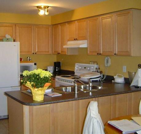 Kitchen before Cole House Design Staged It