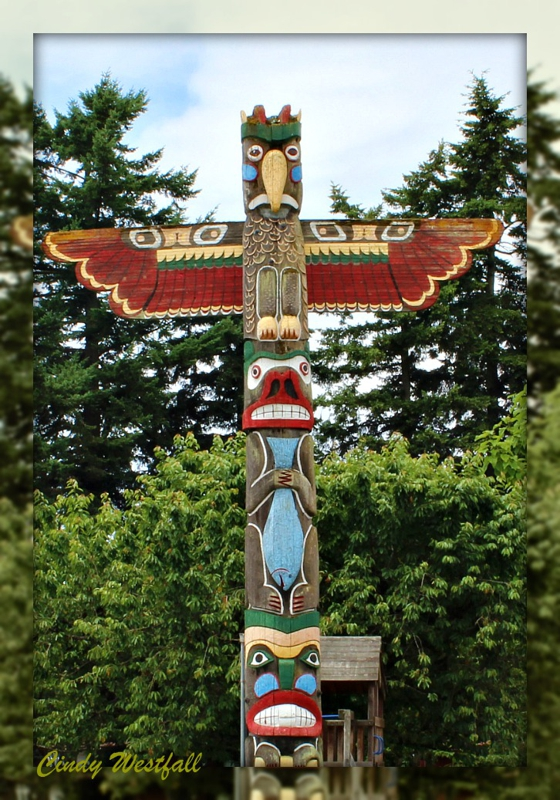 Totem Pole at The Bomber Restaurant