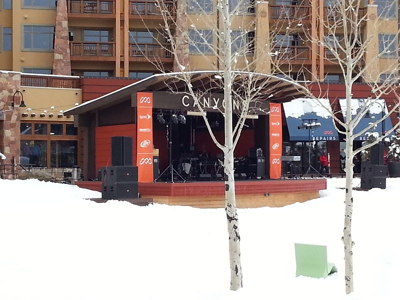 Outdoor stage at The Canyons