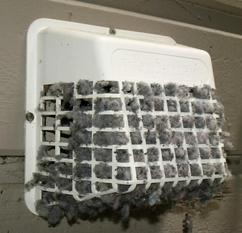 Clogged dryer vent cap